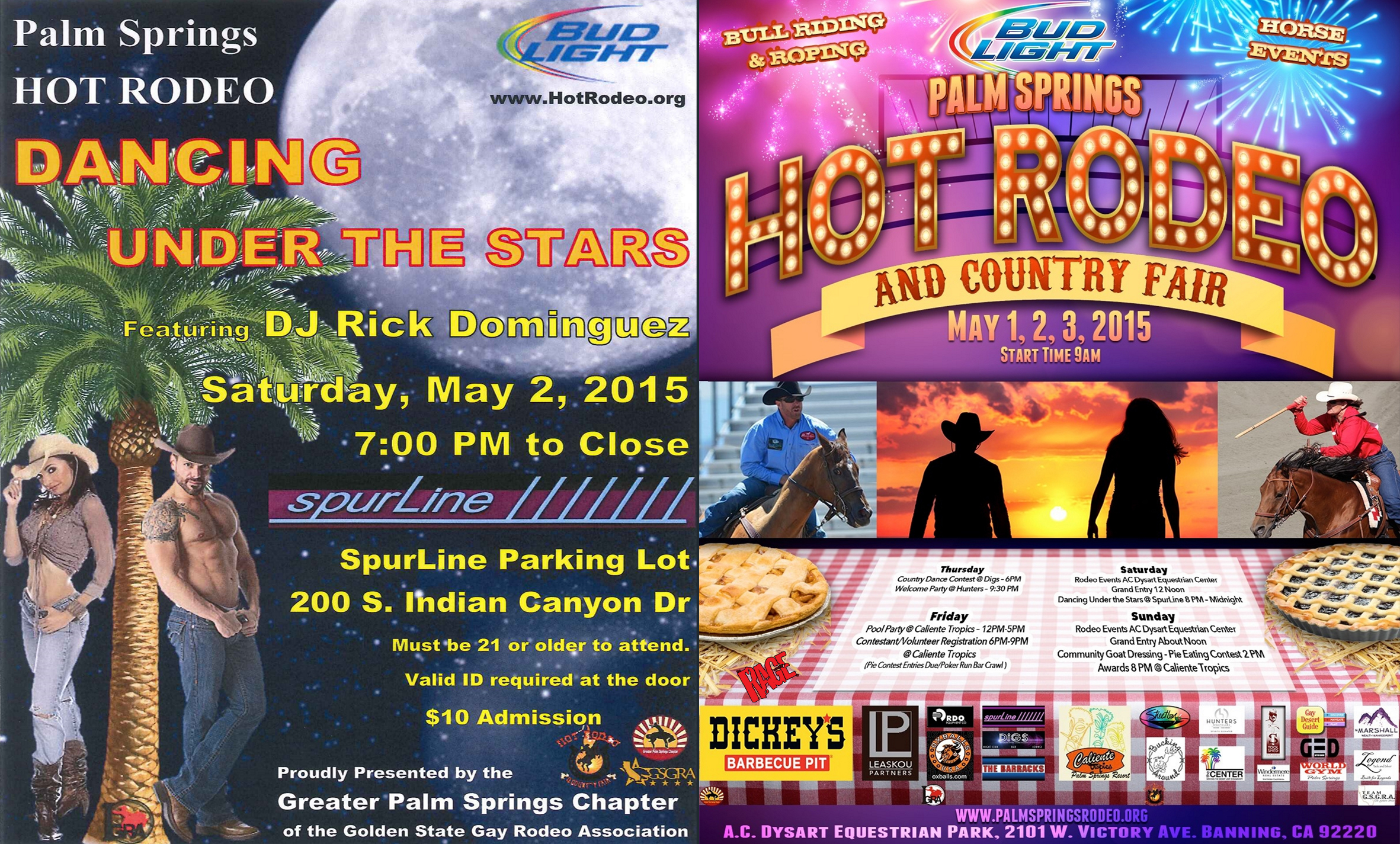 Hot Rodeo Poster & Dancing Under The Stars Poster